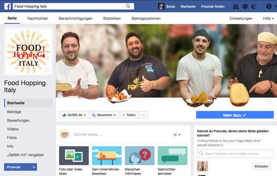 Als Texter den Social Media Account vom Kunden erstellt – Hier: Facebook